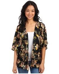 Kimono à fleurs noir O'Neill