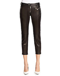 Leather Capri Pants