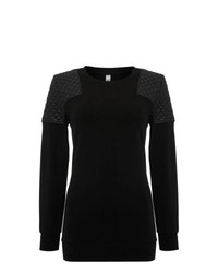 Leather crew neck sweater original 10040179