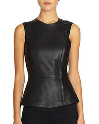 Leather peplum top original 4006671