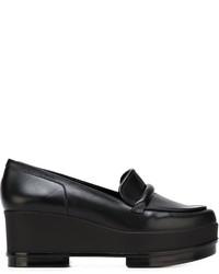 Leather platform loafers original 10005112