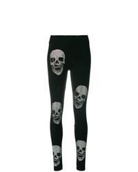 Leggings con adornos negros de Philipp Plein
