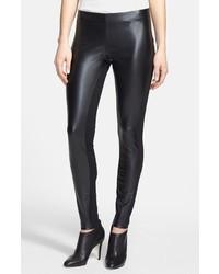 Leggings de cuero negros de DKNY