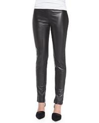 Leggings de cuero negros de Neiman Marcus