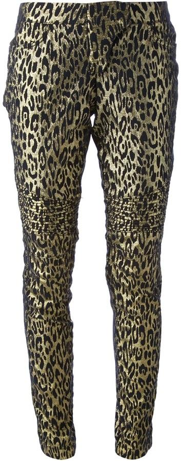 Leggings de leopardo dorados de Philipp Plein