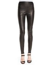Leggings en cuir noirs Ralph Lauren