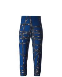 Leggings estampados azul marino de Hermès Vintage