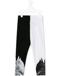 Leggings estampados en negro y blanco