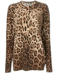 Leopard crew neck sweater original 4220716