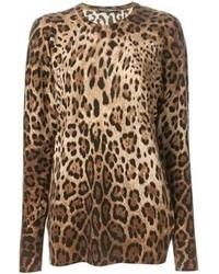 Leopard Crew-neck Sweater