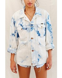 Urban Outfitters Urban Renewal Recycled Blue Tie Dye Jacket