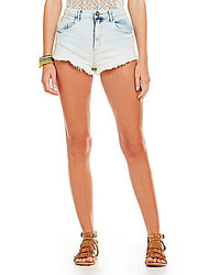 Acid wash denim shorts medium 269858