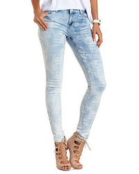 Charlotte Russe Madras Patchwork Skinny Jeans