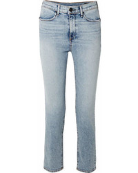 Rag & Bone Cigarette High Rise Slim Leg Jeans Light Denim