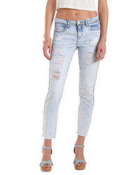 Charlotte Russe Refuge Skinny Frayed Hem Cropped Jeans