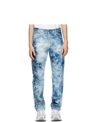 MSGM Blue Bleached Jeans