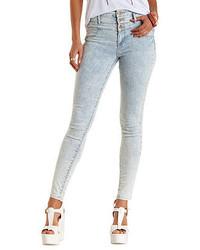 Light Blue Acid Wash Skinny Jeans