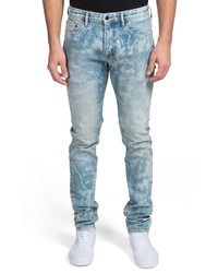 Light Blue Acid Wash Skinny Jeans
