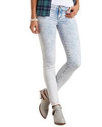 Charlotte Russe Refuge Skin Tight Legging Acid Wash Skinny Jeans