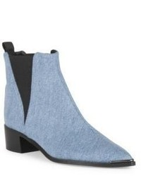 Acne Studios Jensen Metal Tip Denim Booties