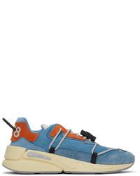 Diesel Blue Orange S Serendipity Lace Sneakers