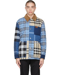 Burberry Blue Cotton Check Jacket