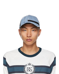 Dolce and Gabbana Blue And Black Denim Baseball Cap