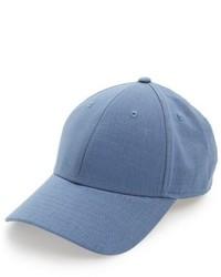 Gents Cotton Linen Baseball Cap Blue