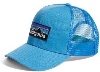 ... Patagonia P 6 Logo Trucker Hat Blue ... ba2725fcf01