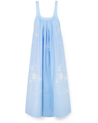 Stella McCartney Oversized Embroidered Cotton Poplin Maxi Dress