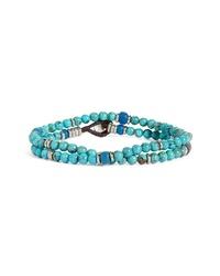 Mikia Turquoise Bead Wrap Bracelet