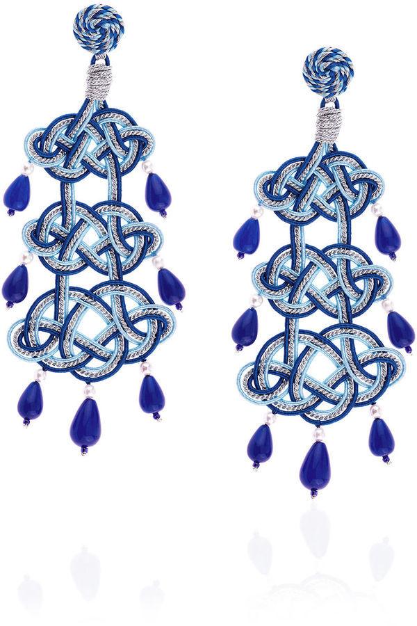 Anna E Alex Blue Passeterie Chandelier Earrings   Where to buy ...