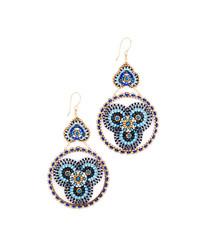 Beaded disc earrings medium 5086284