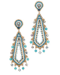 Miguel Ases Beaded Statet Earring