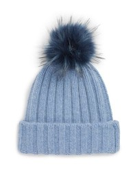 Halogen X Atlantic Pacific Cashmere Beanie With Faux