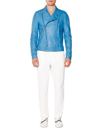 Light Blue Biker Jacket