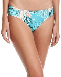 Seafolly Pacifico Ruched Side Retro Swim Bikini Bottoms