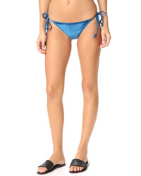 Fleur Du Mal Velour Tie Side Bikini Bottoms
