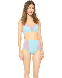 Cynthia Rowley Colorblock Triangle Bikini Top