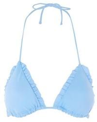 Topshop Frill Triangle Bikini Top