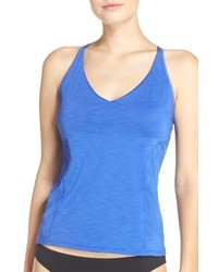 Nike Iconic Heather V Neck Tankini Top