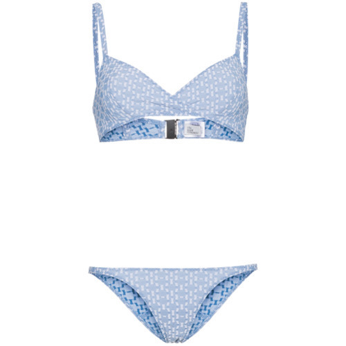 Lisa Marie Fernandez Yasmin Seersucker Triangle Bikini