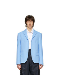 Random Identities Blue Buttonless Blazer