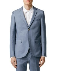 Topman Blue Skinny Fit Suit Jacket