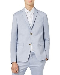 Blue ultra skinny fit suit jacket medium 851268