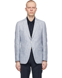 BOSS Blue White Striped Hartlay 2 Blazer