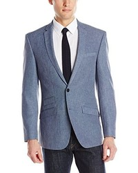Andrew Fezza Fortuna Blue 2 Button Side Vent Notch Lapel Sport Coat