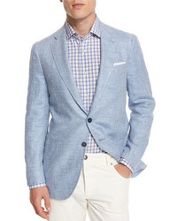 Isaia Gregory Summer Donegal Two Button Sport Coat