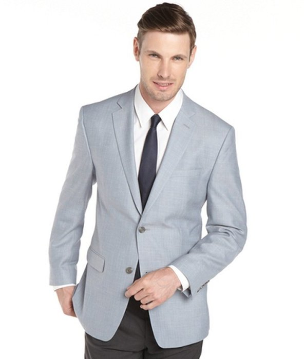 Joseph Abboud Light Blue Herringbone Wool Sport Coat Jacket ...