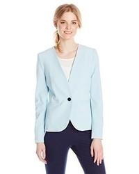 Nine West Single Button V Neck Suit Jacket